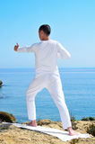 Yoga archer pose Stock Photo