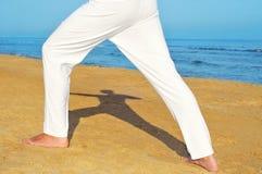 Yoga archer pose Royalty Free Stock Photo