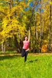 Yoga Ardha baddha padmottanasana pose Stock Photos