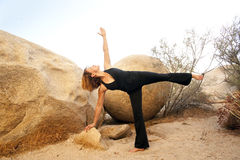 Yoga Ardha Chandrasana Stock Image