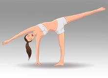 Yoga Ardha Chandrasana Stock Foto's