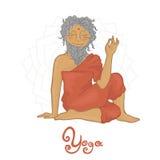 Yoga. Ardha Matsiendra (Hatha Yoga) sage Matsiendra Stock Photography