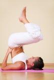 Yoga - Ardha Sarvangasana Royalty Free Stock Images