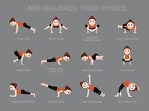 Yoga Arm Balance Poses Vector Illustration. Yoga Posture EPS10 File Format Royalty Free Stock Photo