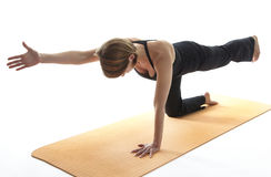 Yoga Asana. Tiger Pose Variation stock photography