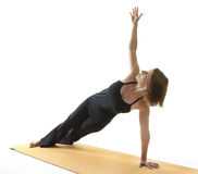 Yoga Asana. Side Plank Pose royalty free stock photo
