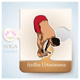 YOGA Asana Ardha Uttanasana Stock Photography