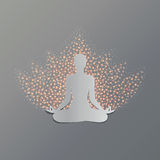 Yoga asana lotus Royalty Free Stock Photos
