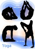 Yoga Asana Poses stock photos