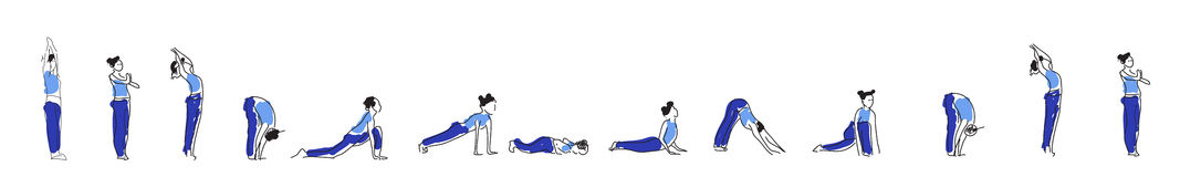 Yoga asana practice with Om symbol in lotus vector illustration. Royalty Free Stock Photo