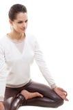 Yoga asana sukhasana Stock Image