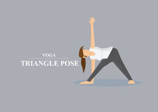 Yoga Asana Triangle Pose Vector Illustration Stock Image