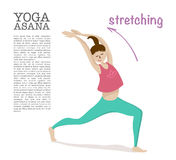 Yoga asana vector illustration. Stock Photography
