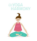 Yoga asana vector illustration Stock Photo