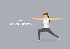 Yoga Asana Warrior Pose Vector Illustration Royalty Free Stock Image