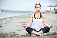 Yoga asian woman Royalty Free Stock Photography