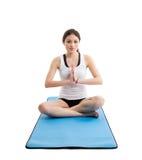 Yoga asiatica della donna Fotografie Stock