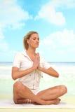 Yoga At The Beach Royalty Free Stock Photo