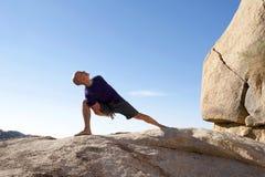 Male Yoga Athlete royalty free stock image