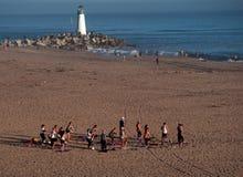 Yoga auf dem Strand Lizenzfreie Stockfotografie