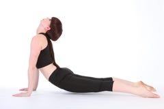 Yoga-aufwärts Einfassung-Hundehaltung Urdhva Mukha Svanasana Stockbild