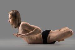 Yoga backbend exercise Royalty Free Stock Photos