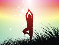 Yoga background Stock Photography