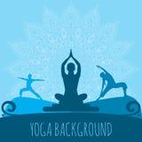 Yoga background. Royalty Free Stock Images