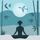 Yoga  background. Stock Images
