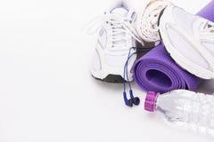 Yoga Background isolated on white Stock Photo