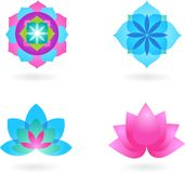 Yoga background set Royalty Free Stock Image