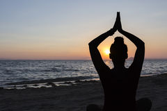 Yoga backlight Stock Images