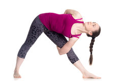 Yoga Baddha Trikonasana Stock Photos