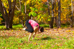 Yoga bakasana pose Stock Photo