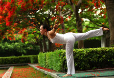 Yoga balance Stock Photos