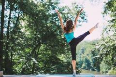 Yoga, balance, meditation. Stock Photos