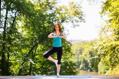 Yoga, balanza, meditación Foto de archivo libre de regalías