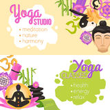 Yoga Banners Horizontal Royalty Free Stock Photo