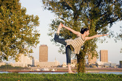Yoga in Baton Rouge Stock Foto's