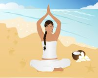 Yoga On The Beach Royalty Free Stock Image