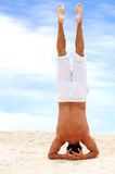 Yoga at the beach Stock Photography