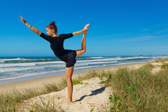 Yoga on the beach series Stock Image
