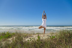 Yoga on the beach series Royalty Free Stock Image