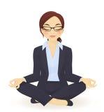Yoga bedrijfsvrouw Royalty-vrije Stock Fotografie