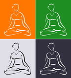 Yoga for Beginners Royalty Free Stock Photography
