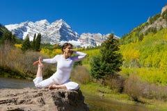 Yoga a Belhi marrone rossiccio Immagini Stock