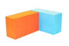 Yoga block on white isolated Stock Photo