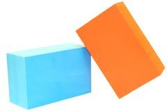 Yoga block on white isolated Stock Photos