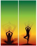 Yoga bookmarks Stock Photos