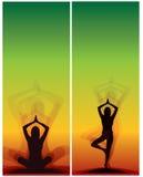 Yoga bookmarks royalty free illustration